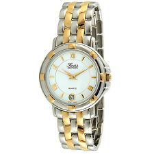 Men's Two-Tone Round Silver and Gold Tone Dress Luxury Swiss Quartz Watch