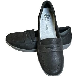 Cloudsteppers by Clarks Penny Loafers Black size 7.5