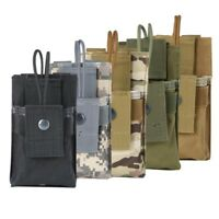 Outdoor Tactical Radio Case Holder Walkie Talkie Holster Molle Pouch Bag Case US