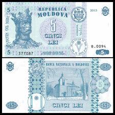 Moldova 5 Lei, 2013, P-9 NEW, UNC