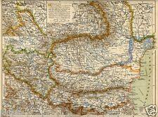 1899= ROMANIA BULGARIA SERBIA=  Antica Mappa  = Old Map