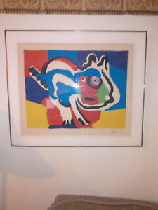 Karel Appel    Cat, 1975. Lithograph in colors on wove paper.  Signed, Numbered