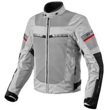 GIACCA JACKET MOTO REV'IT REVIT TORNADO 2 H2O SILVER BLACK IMPERMEABILE WP TG M