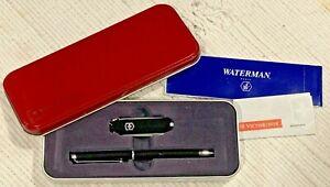 Waterman Ballpoint Pen w/ Victorinox Classic Swiss Army Knife - Gift Set Tin