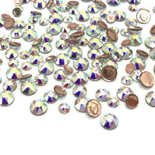 144 CRYSTAL AB 001 AB HOTFIX Swarovski 2078 Flatback Assorted Mix Sizes 3mm-5mm
