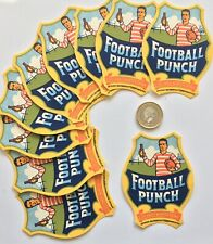 More details for traders or wholesale lot of 50 football punch  drink labels die cut rugby scene