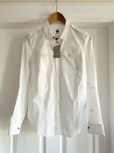 G Star Ladies Slim Fit White Shirt Womens NEW With Tags Small 💕