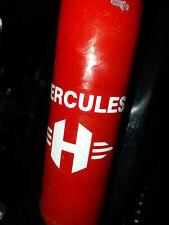 "Rahmen Aufkleber Hercules ""H"" Logo M Prima 4 5 S Optima 3 P weiß Sattelrohr"