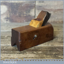 Vintage Beech and Boxwood Sliding Box Stop Chamfer Plane - Good Condition
