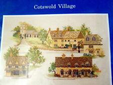 New Cross Stitch Kit Cotswold Village Rose Swalwell Aida Cloth Village England