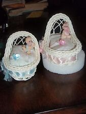 CRIB TOPPER DIAPER CUPCAKES FAVOR GIFT BABY SHOWER CENTERPIECE CAKE
