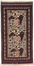 170x88 cm Nomaden Belotsch WandteppichTeppich Afghan Bilderteppich Carpet No:9