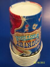 Country & Western Music Cowboy Birthday Theme Party 9 oz. Paper Cups