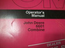 JOHN DEERE TRACTOR OPERATOR'S MANUAL 6601 COMBINE ISSUE C5