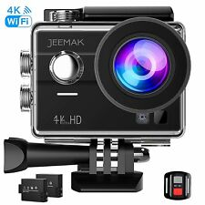 4K WiFi Ultra HD Sports Action Camera 16MP Portable 170° Wide Angle Waterproof