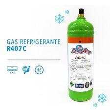 BOMBOLA GAS REFRIGERANTE R407C DA 1 LT RICARICA CONDIZIONATORE AUTO