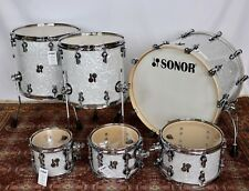 Sonor SQ2 Vintage Maple 6 Pc Kit White Pearl Finish 22bd, 8,10,12 tts, 14&16 fts