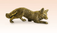Miniature Bronze Figurine FOX sculpture art manual processing rare