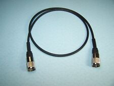 RG-58A/U COAX CABLE JUMPER 3 FT SEALED PL-259s PROFESSIONALLY MADE CB HAM RADIO