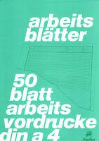 Staufen Arbeitsblätterblock Arbeitsblätter Block 80 gr. 50 Blatt Lineatur 2