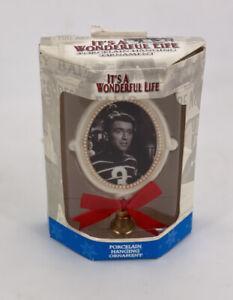 It's A Wonderful Life Enesco Christmas George Bailey Porcelain Ornament 2002 Box