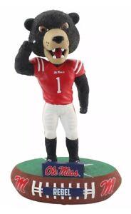 Ole Miss Mississippi Rebels Black Bear Mascot Bobblehead Brand New In Box!