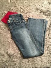 Seven 7 For All Mankind Womens Jeans A Pocket Flare Boot Cut Light Wash Sz 28