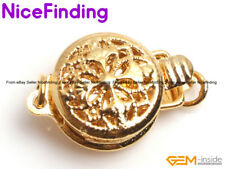 14K Gold Filled Filigree Clasp Connector Repair Finding For Jewelry Making 9mm