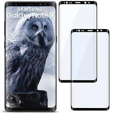 2x 3D Panzer Glasfolie für Samsung Galaxy Note9 aus Hart Glas Curved Full Screen