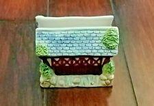 Ceramic Covered Bridge Napkin Letter Holder Cute Kitchen Table Desk Accessory EC