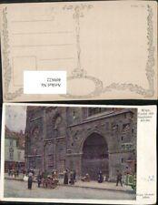 409822,Künstler AK Ernst Graner Wien Innere Stadt Stephanskirche Portal pub B.K.