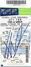 Fabricio Werdum Signed 2015 UFC 188 Full Event Ticket Fight vs Cain Velasquez