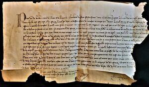 1347 PIERRE 1er DUC de BOURBON - INHERITANCE DISPUTE Handschriften auf Pergament