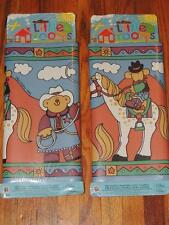 """LOT OF 2 NORWALL LITTLE ROOMS WALLPAPER BORDER WESTERN HORSES ANIMATED 10"""" X 5yd"""