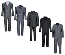 BOYS SUITS FORMAL WEDDING PARTY 3/5 PIECE WAISTCOAT JACKET TROUSERS 1-15Y BNWT