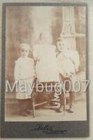 Vintage Antique Cabinet Card Photograph 3 children Springfield, MO studio