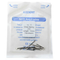 "Dental Closed Ni-Ti Coil Spring Orthodontic 0.010"" 12mm Length AZDENT NEW"