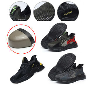 Mens Lightweight Safety  Shoes Steel Toe Cap Trainers Womens Work Hiking Boots
