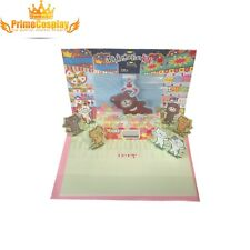 New 3D Pop Up Birthday Greeting Card Kitty Cat Cute Love Anniversary Gift, USA