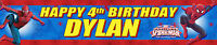 2 x SPIDERMAN  PERSONALISED BIRTHDAY BANNERS