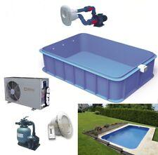 PP Pool Polypropylen 8x3,45x1,5m Schwimmbecken Komplettset Schwimmbad
