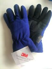 NWT Boys Microfleece GLOVES  Blue Black 3M Thinsulate Size S/M