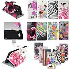 Holder Card Wallet Leather Flip Case Cover For LG G3 Stylus G4 Samsung J5 J3 J2