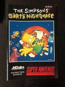 The Simpsons: Bart's Nightmare (Super Nintendo Entertainment System, 1992)