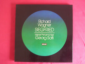 Richard Wagner, Siegfried, 5 LPs in Box, Wien.Ph., Georg Solti