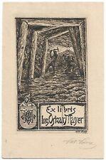 VIKTOR VAVRA: Exlibris für Oskar Mayer, Bergbau