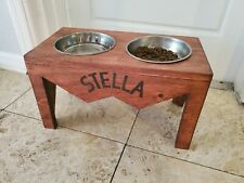 Dog water/food bowl stand custom made by hand with North Carolina wood.