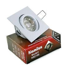 500Lumen 7Watt IP54 LED Einbauleuchten 220V Schutzglas Rostfrei Rund