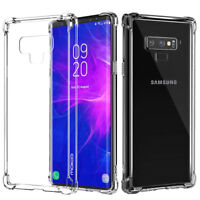 For Samsung Galaxy Note 9 Shockproof Crystal Clear Silicone Soft TPU Case Cover