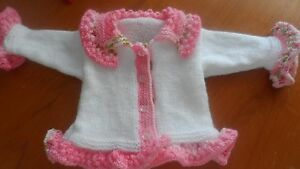 Hand knitted baby girl cardigan 0-6 months - 1-2 years
